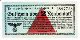 ALLEMAGNE - Billet De 2 Reichsmark. Camps De Prisonniers. Guerre 39-45. - [10] Military Banknotes Issues
