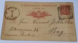 1893 INTERO POSTALE X ESTERO BOEMIA DA FIRENZE A PRAGA (143) - 1878-00 Umberto I