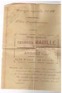 D37 AMBOISE..HANGAR Georges MABILLE. Construction 41 SAINT-RIMAY. M.RETIF - LEMORE. Plan Du Hangar. 1930. - France