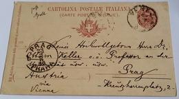 1896 INTERO POSTALE X ESTERO BOEMIA DA VENEZIA A PRAGA (146) - 1878-00 Umberto I