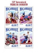 MOZAMBIQUE 2013 SHEET PIERRE DE COUBERTIN OLYMPIC GAMES JEUX OLYMPIQUES SPORTS DEPORTES JUEGOS OLIMPICOS Moz13403a - Mozambique
