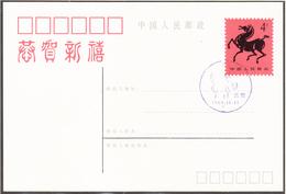 CHINE - 1989 - ENTIER POSTAL - CHEVAL - 1949 - ... République Populaire