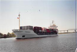 """¤¤  -   Cliché Du Bateau De Commerce """" TRENDEN """"  -  Cargo -  Porte-Conteneur   -  Voir Description   - ¤¤ - Commerce"""