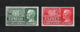 A.O.I. 1938 - Espresso - 1,25 L / 2,50 L. - MH - Sa:IT EA E1-E2 - Africa Orientale Italiana