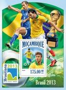 MOZAMBIQUE 2013 SHEET BRAZIL FOOTBALL SOCCER FUTBOL SPORTS DEPORTES Moz13413b - Mozambique