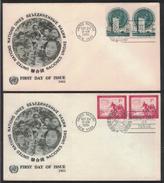 AZ514    ONU - NAZIONI UNITE - UNITED NATIONS - NATIONS UNIES - NEW YORK 1951 FDC - New York - Sede Centrale Delle NU
