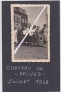 SAIVES-CHATEAU-KASTEEL-PHOTO-ORIGINAL-1948-PETIT ARCHIVE FAMILLE PECSTEEN-CORNET D'ELZIUS-VOYEZ 2 SCANS-TOP ! - Borgworm