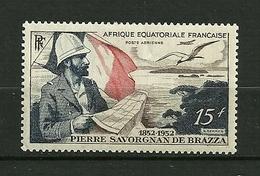 """A.E.F Aérien 1951   N° 55   """" 100 Ans Naissance De L'explorateur Savorgnan De Brazza """"   NEUF - Neufs"""