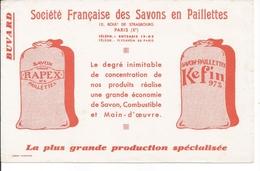 Buvard Société Française Des Savons En Paillettes. Rapex, Kefin. - Pulizia