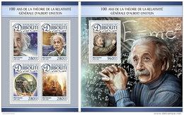 DJIBOUTI 2016 ** Albert Einstein M/S+S/S - OFFICIAL ISSUE - A1704 - Albert Einstein