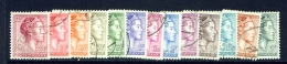 LUXEMBOURG  -  1960  Grand Duchess Charlotte  Set  Used As Scan