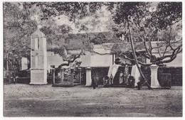 CEYLON SRI LANKA- ANURADHAPURA - SACRED BO TREE - MONKS -c1910s Vintage Postcard - CEYLAN - Sri Lanka (Ceylon)