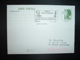 CPE LIBERTE DE GANDON 1,80 OBL.MEC.17-9-1985 ARBOIS JURA (39) CITE DE PASTEUR VACCINATION HUMAINE ANTIRABIQUE - Louis Pasteur
