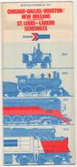 CHIACAGO-DALLAS-HOUSTON -NEW ORLEANS-ST.LOUIS-LAREDO-SCHEDUKES AMTRAK TIMETABLES 1975 - Monde
