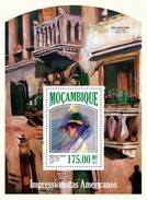 MOZAMBIQUE 2013 SHEET AMERICAN IMPRESSIONISTS ART PAINTINGS ARTE PINTURAS Moz13504b - Mozambique