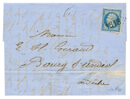 1862 20c(n°14) TTB margé obl. cachet baton 1818 sur lettre avec texte de LYON. Cote 850€. Superbe.