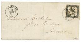 1868 15c Taxe avec PICAGE spécial de SOISSONS sur lettre locale. RARE. Signé SCHELLER. Superbe.