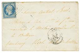 """""""DESTINATION ESCADRE DE LA BALTIQUE"""" : 1854 25c REPUBLIQUE (n°10) pd obl. PC 1761 + LORIENT 4 juin 54 sur enveloppe"""
