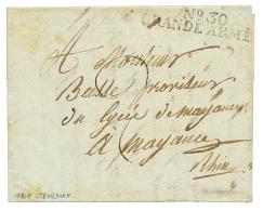 """1808 N°30 GRANDE ARMEE sur lettre avec texte daté """"STEINDORF"""" pour MAYENCE. TB."""