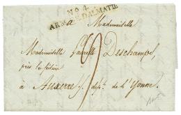 """1807 N°4 ARM. DE DALMATIE sur lettre avec texte daté """"CATTARO"""" pour la FRANCE. Superbe."""