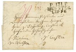 1811 P.131.P MUNSTER LIPPE sur lettre avec texte pour L'Allemagne. Superbe.