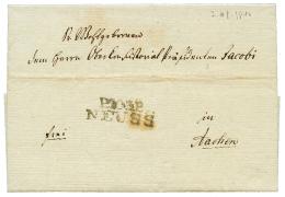 """1810 P.103.P NEUSS sur lettre avec texte daté """"NEUSS"""" pour AIX. TTB."""