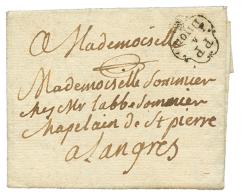 1790 Cachet orné PP A DIJON sur lettre pour LANGRES. TTB.