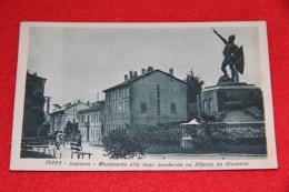 Legnano Milano Monumento Alla Lega Lombarda N. 16ì5263 Viaggiata Nel 1928 Ed. Diena - Legnano