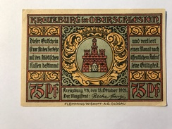 Allemagne Notgeld Kreutzburg 75 Pfennig - [ 3] 1918-1933 : République De Weimar