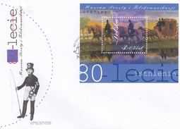 POLOGNE - FDC COVER BLOC MUSEUM POOZTY I TELEKOMUNIKARJI  - 9.10.2001 WROCLAW 1 / 1 - FDC