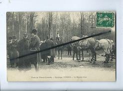 CPA - Forêt De Villers Cotterêts  - Equipage MENIER - Le Rendez Vous   (cheval , Chevaux , Chasse à Courre ) - Villers Cotterets