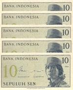 INDONESIA 10 SEN 1964 P-92 UNC 5 PCS  [ID545a] - Indonesia