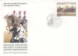 POLOGNE - FDC COVER OBCHODY DWUSETNEJ ROCZNICY POWSTANIA MAZURKA DABROWSKIEGO - WARSZAWA 20.07.1996 / 1 - FDC