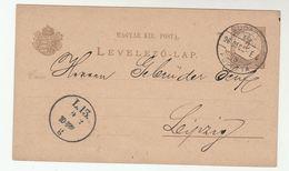 1896  UJVIDEK Novi Sad Serbia HUNGARY Postal STATIONERY CARD To LEIPZIG  Germany Cover Stamps - Covers & Documents