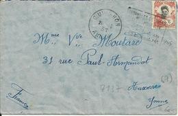 """INDOCHINE CACHET QUI-NHOM ANNAM Avec DAGUIN """"anophètes Détruits / Paludisme évité / + 2 Lignes En Vietnamien"""" De 1931 - Covers & Documents"""