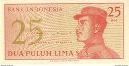INDONESIA 25 SEN 1964 P-93 UNC  [ID546a] - Indonesia