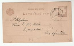 1890  Budapest HUNGARY Postal STATIONERY CARD To Germany Cover Stamps - Covers & Documents