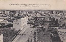 Morocco Casablanca En 1916 Rue Et Boulevard De L'Horloge Pris De L'Hotel Excelsior - Casablanca