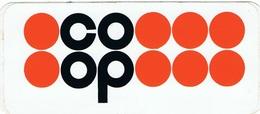 Autocollant Coop  Format 12,7 X 5,6 Cm Très Bel état !!! - Autocollants