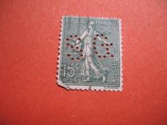 Perforé  Perfin  Référence Ancoper France  : SG103 - Perfins