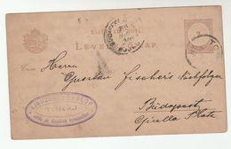 1889 TOKAJ   HUNGARY Postal  STATIONERY CARD Cover Stamps - Postal Stationery