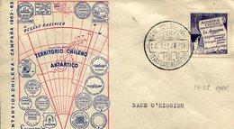 ANTARTIDA CHILENA BASE O HIGGINS TERRITORIO ANTARTICO 1964  CHILE SOBRE  ZTU. - Chile