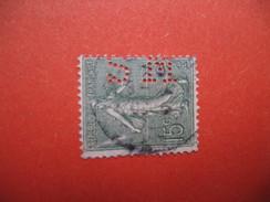 Perforé  Perfin  Référence Ancoper France  : SM148 - Perfins