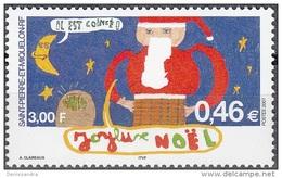 Saint-Pierre & Miquelon 2001 Yvert 757 Neuf ** Cote (2015) 2.00 Euro Noël Dessin D'enfant - Neufs