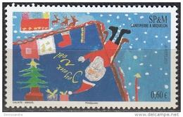 Saint-Pierre & Miquelon 2012 Yvert 1057 Neuf ** Cote (2015) 2.40 Euro Noël Dessin D'enfant - St.Pierre Et Miquelon