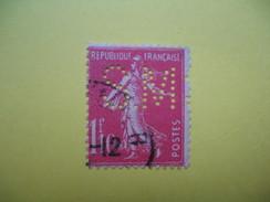 Perforé  Perfin  Référence Ancoper France  : SM164 - Gezähnt (Perforiert/Gezähnt)