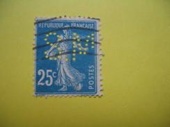 Perforé  Perfin  Référence Ancoper France  : SM165 - Perfins