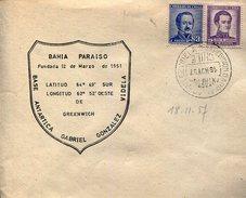 BASE ANTARTICA GABRIEL GONZALEZ VIDELA BAHIA PARAISO  1957 CHILE SOBRE  ZTU. - Chile
