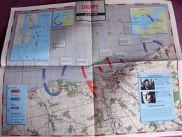 Carte Des Opérations N° 17  DIEPPE Saint Nazaire 1942 Dos Technologie Materiel Guerre 1939 1945 Militaria WW2 - War 1939-45