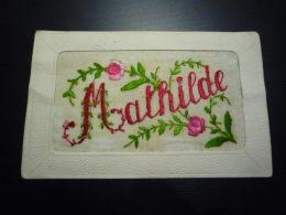 BRODEE.N°28561.PRENOM.MATHILDE.FLEURS - Brodées